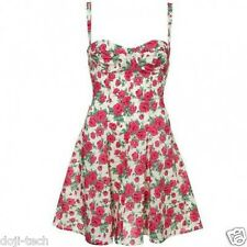 Topshop STAMPA FLOREALE LIBERTY tessuto Rose Corsetto 50s vintage sole estivo dress 8 36 4