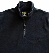Old Navy Classic Men Black Fleece Half Zip Pullover Sweatshirt Jacket Size L