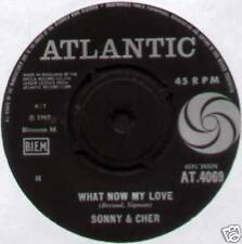 """SONNY & CHER ~ WHAT NOW MY LOVE / I LOOK FOR YOU ~ 1965 UK 7"""" SINGLE [Ref.2]"""