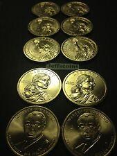 All 2015 P D Presidential Dollars & Sacagawea Truman - LBJ Complete 10 Coin Set