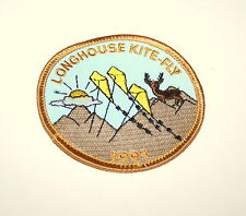 Vintage 1991 Girl Boy Scouts  Longhouse Kite-Fly Cloth Patch Sale NOS New Scout