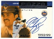 Mike Piazza 2000 UD Ovation Super Signature Autograph #82/100 Rare!!! NY Mets
