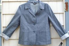 NWT DKNY Donna Karan Lt. Wt Denim Blazer Jacket 8 $195