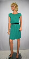 Lilly Pulitzer Green Safety Pin Print Knit Blouson Dress Size Medium