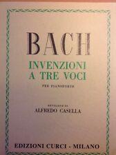 BACK INVENZIONI A 3 VOCI PER PIANOFORTE REVISIONE DI ALFREDO CASELLA CURCI ED++