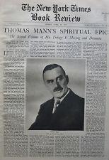 THOMAS MANN - YOUNG JOSEPH - NINI CARRY HESS 1935 April 28 NY Times Book Review
