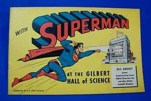 Rare 1948 A.C. Gilbert Flyer D-1508 Superman Hall of Science Consumer Catalog