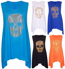 Skull Waist Length Tops & Shirts Size Plus for Women