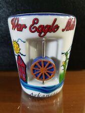 War Eagle Mill ARKANSAS Whiskey Shot Glass  .... 3D EFFECT