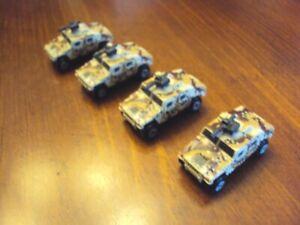 Lot of 4 Galoob Micro Machines M1045 Humvee in desert camo