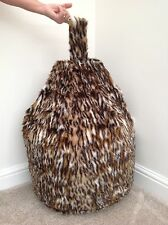 Bean bag cover only children's Ocolot faux fur 3 cubic ft Size Animal Print New