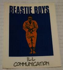 Beastie Boys Ill Communication Promotional Sticker 1994 New Vintage Rare Rap