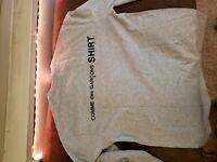 Comme Des Garcons Logo T Shirt Gray  sz Large L