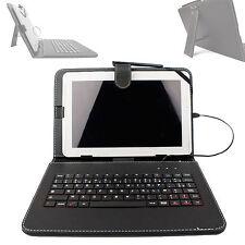 AZERTY Imitación Cuero Funda Con Teclado Para Samsung Galaxy Tab 3/2 10.1