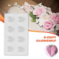 Silicone Cake Mold Diamond Love Heart Shape Mould Pastry Bake Mold Kitchen Tool
