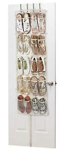G0061 -Heavy Duty 20 Pocket Over Door Hanging Shoe Organiser 10 Pairs 135x53x7cm