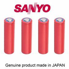 batteria 4 x Sanyo NCR18650GA 3500 mAh Flat Top 10A 35W sigaretta bici faro led