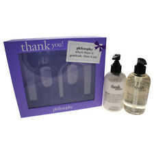 Thank You by Philosophy - 2 Pc Set 2 x 8oz Fresh Cream Hand Wash & Hand Lotion