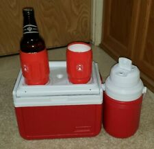 Vintage Coleman Cool Box Red Lunch Cooler Ice Chest Rare Model 5205 & Extra New