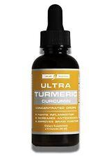 Organic Turmeric Curcumin Concentrate Drops Bioperine black pepper fruit extract