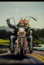 Ghost Rider David Mann Motorcycle Art Poster Print [No frame]