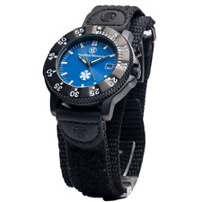 Smith & Wesson S&W EMT Logo Blue Face Luminous Hands 40mm Watch SWW-455-EMT