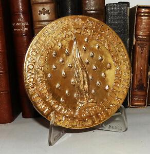 Médaille BRONZE Général DE GAULLE RESISTANCE FRANCE PARTISANS  doré or pur