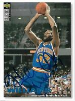 Herb Williams Signed Auto 1995 Collector's Choice NY Knicks Card - COA - Pacers