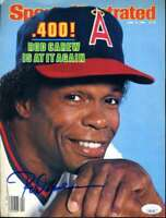 Rod Carew JSA Coa Hand Signed 8x10 Magazine Cover Photo Autograph