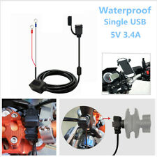 Motorcycle Bike 1 USB Waterproof Charger Mobile Phone Charging Cable Accessories