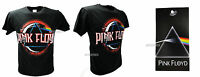 T-Shirt Originale Pink Floyd Nera Dark Side of the Moon Rock Maglia Maglietta