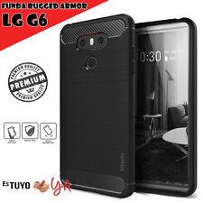 Funda LG G6 Estuyoya Rugged Armor Carcasa LG G6 slim shock negro