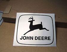 Aufkleber John DEERE historisches 2x Logo Traktor  Schlepper Bulldog O64
