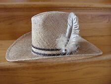 Men's Bailey New West U-Rollit  Sheplers Straw Western Hat Size 6 3/4 New