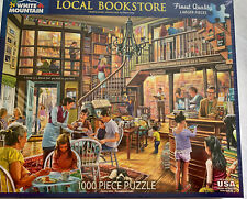 White Mountain  Local Bookstore 1000 Piece Family Jigsaw Puzzle Larger Pieces