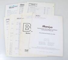MAMIYA RB 645/C PRESS,ASCORE,GOSSEN, OMEGA VIEW 4X5,8X10 ENLARGER,1976, PRICE LI
