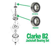 Clarke B-2 B2 Floor Edger Jackshaft Bearing Set 51127A and 902550 Edger Parts