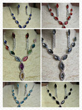 Silver Plated Glass Crystal Unbranded Costume Necklaces & Pendants
