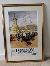 Visit London Poster. Framed. GWR Railway. Vintage.