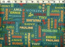 VIP Exclusive ~ Dinosaur Train Names Coordinate ~ 100% Cotton Quilt Fabric BTY