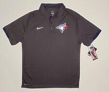 Toronto Blue Jays Nike Dri-FIT Anthracite Authentic Performance Polo Medium NWT