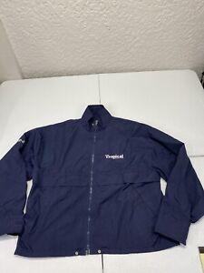 Mens PING Golf Navy Blue Windbreaker Zipper Jacket - Size Small G