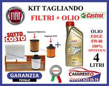 KIT TAGLIANDO FILTRI + OLIO CASTROL 5W40 LANCIA Y YPSILON 1.3 MULTIJET 2003-2011