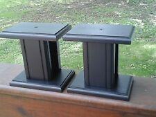 Small Black Speaker Stands 6  X 4  X 6 HIGH    Hard Wood..