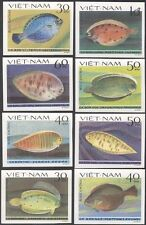 Vietnam 1982 Flounders/Soles/Fish/Marine/Nature/Wildlife 8v set imperf (n43650)