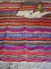 5x8 Area Rag Rug Large Oriental Runner Hand Loomed Indian Sari Throw Boho Carpet