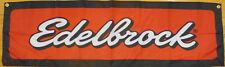 Edelbrock Flag Automotive Racing Garage Mechanic Performance Parts Banner 58X17