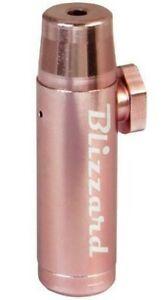 Metall Dosierer Snuff Bottle Schnupfdosierer Blizzard 1 ROSE GOLD Sniffer Sniff