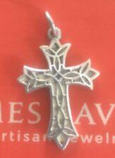 James Avery RETIRED Sterling Silver Lattice Cross Charm/Pendant