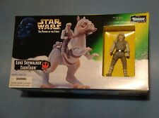 STAR WARS POWER OF THE FORCE LUKE SKYWALKER & TAUNTAUN FIGURE SET! NM!